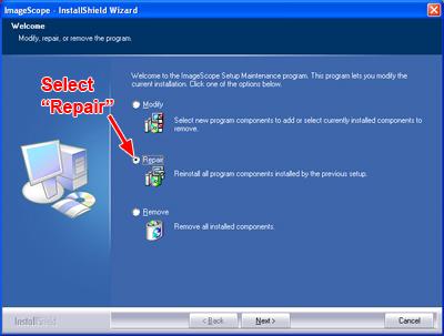 ImageScope Repair
